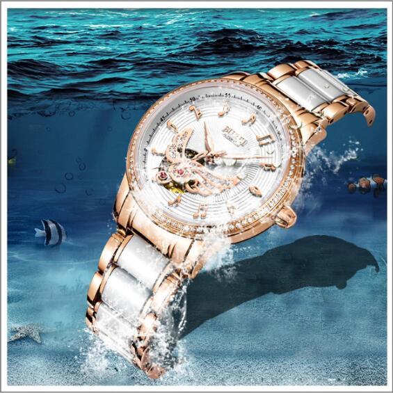 Relogio Feminino BUREI Brand Luxury Women Mechanical Watch Ladies Fashion Waterproof Crystal Sapphire Automatic Wristwatch Clock enlarge