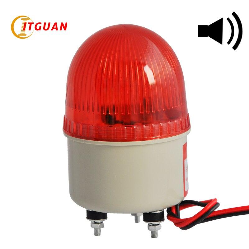 LTE-2071J Incandcent الروتاري تحذير ضوء إنذار الترباس أسفل مع صوت الجرس 90dB البسيطة مصباح طوارئ 12V 24V 220V