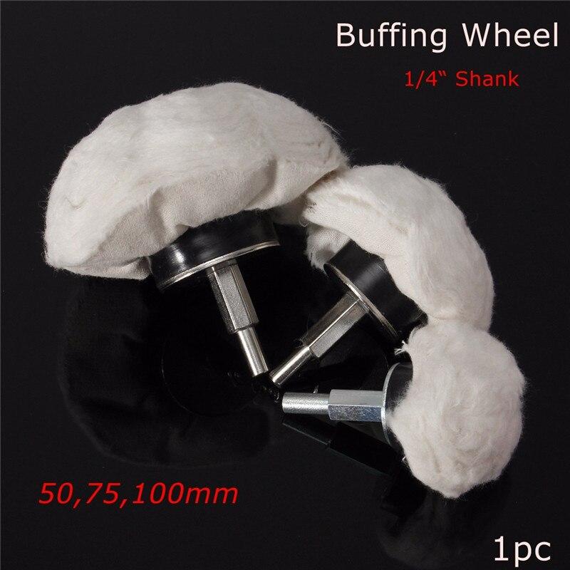 "1pc 1/4 ""de Haste Rotativa Tipo Cogumelo Ferramenta de Limpeza Com UM 6 milímetros Biela Mop Polimento Roda Lustrando broca polidor Almofadas"