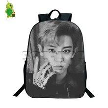 Kpop EXO Lotto Backpack Korean Style Travel Bags Boys Girls Idol CHANYEOL SEHUN KAI School Bags Young Women Men Daily Bags