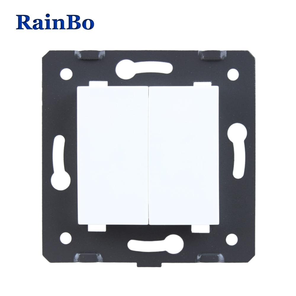 Rainbo envío libre blanco materiales plásticos DIY accesorio función clave para panel en blanco, tapa de llenado UE enchufe estándar A8BKW