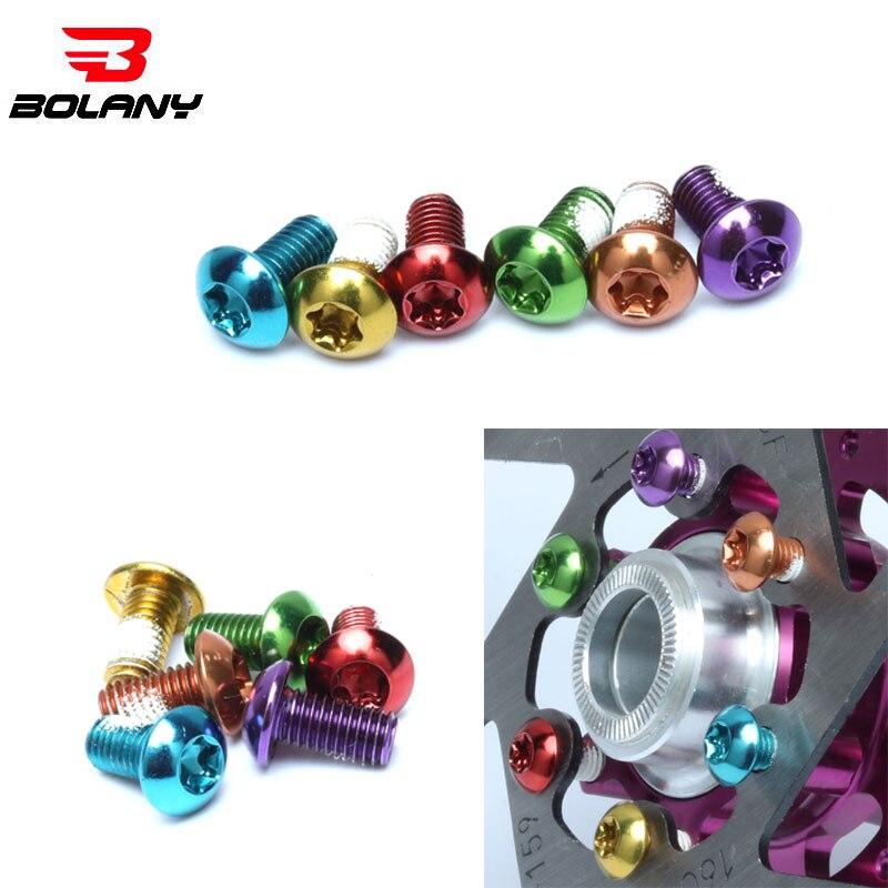 12 шт., велосипедные тормозные винты для дисков, стальной болт, ротор, велосипедные красочные винты для дисков 1,8 г для горного велосипеда