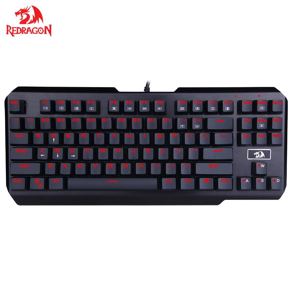 Redragon-لوحة مفاتيح ألعاب ميكانيكية مريحة ، USB ، مع إضاءة خلفية ، جهاز تنفس فردي ، مضاد للظلال ، 87 مفتاحًا ، كمبيوتر ألعاب K553