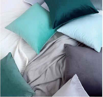 30x5 0/45x4 5/55x5 5/65x65cm funda de cojín de terciopelo de color sólido funda de almohada lumbar para sofá funda de respaldo grande decoración del hogar