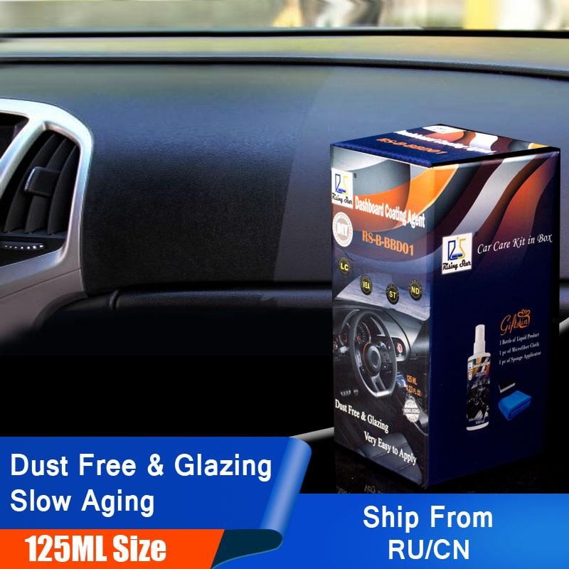 125ml Plastic Parts Retreading Restore Agent Wax Car Instrument Panel Renovating Repair Agent Auto Interior Maintenance Cleaner
