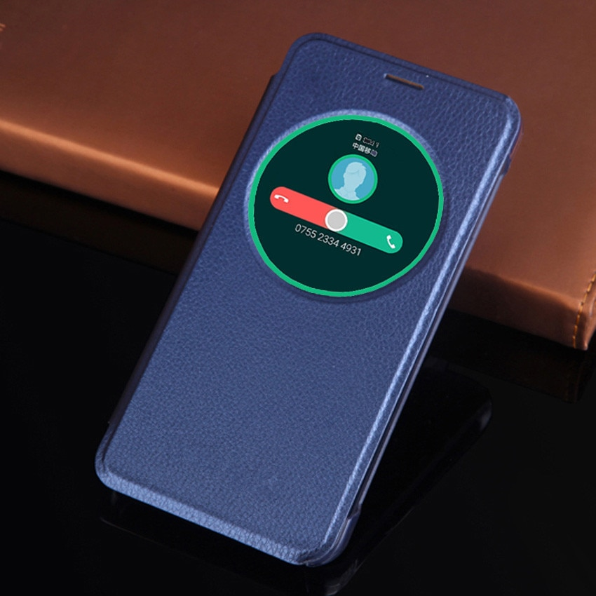 Чехол Smart View с круглым окошком, чехол для телефона с автоматическим переходом в спящий режим и пробуждением, противоударный флип-чехол для Asus Zenfone 3 ZE520KL / ZE552KL