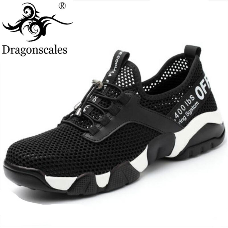Zapatos de seguridad de acero para hombre Botas de acero al aire libre resistente a las cuchillas zapatos casuales sandalias de una sola red para hombre verano transpirable zapatos de seguridad