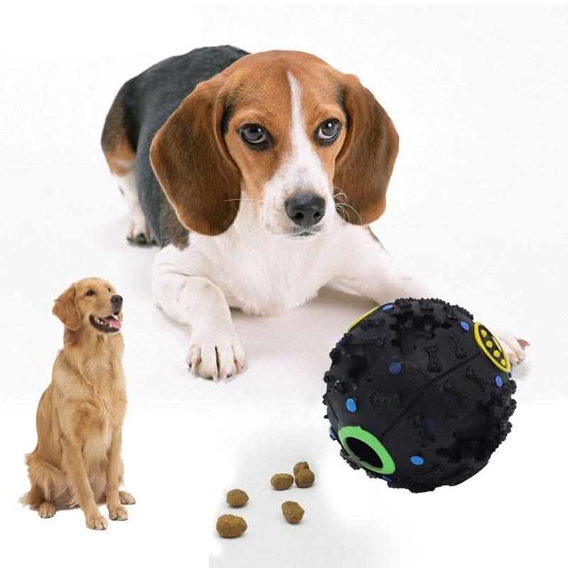 Comida para perros y gatos, pelota de juguete para jugar con sonido masticable, soporte divertido para el tratamiento, pelota para mascotas, juguetes suministros para mascotas interactivos de entrenamiento