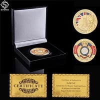 euro uk royal engineers coin challenge 1944 d day sword beach landing gold coin w luxury coin box collection