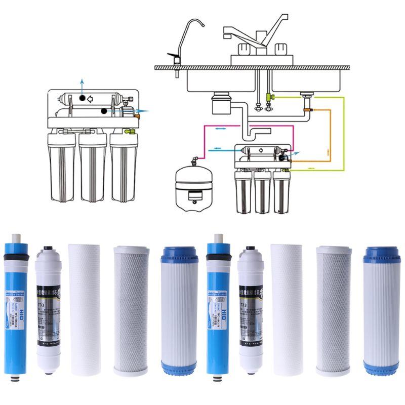 Set de filtro de ósmosis inversa MEXI de 10 pulgadas de cinco etapas, elemento purificador de agua, cartucho de filtro de agua, pieza de accesorios