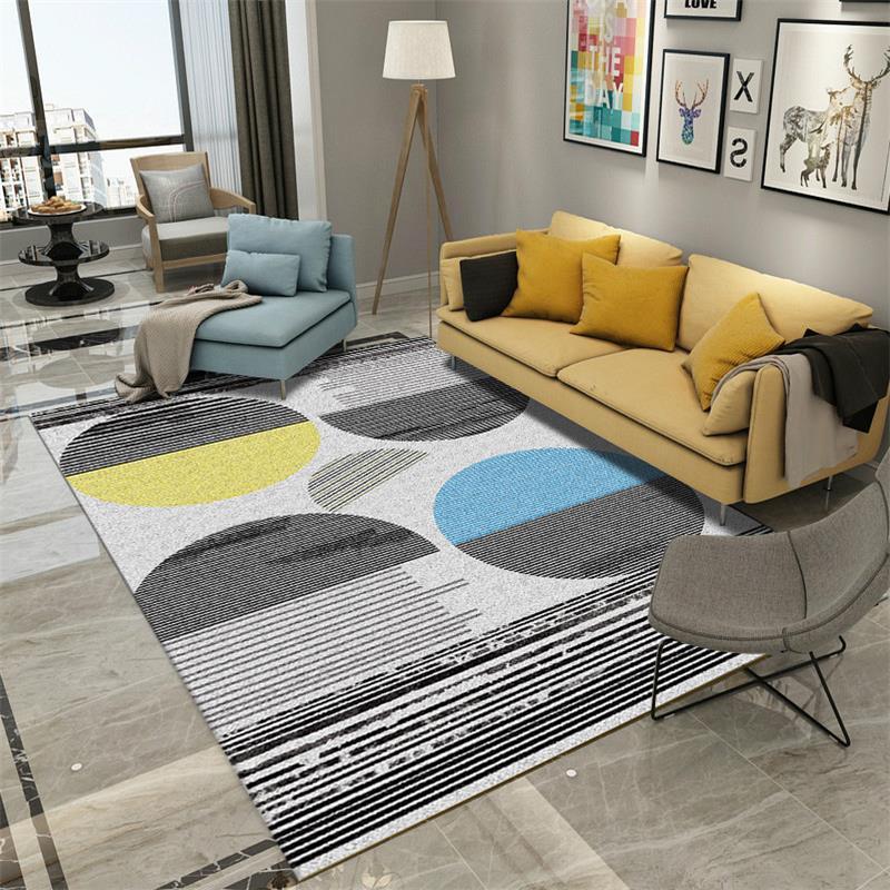 Modern Living Room Carpet Home Decoration Rug Nordic Carpet Bedroom Sofa Coffee Table Floor Mat Study Room Rugs Geometric Tapis