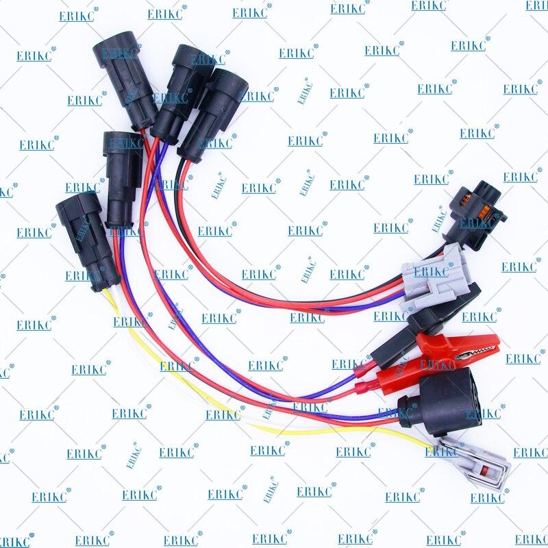 ERIKC разъем топливного инжектора с кабелем провода и Common Rail Инжектор тест er приводные линии разъем для инжекционного теста машины