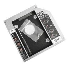 1 stücke 12.7/9,5mm/9mm Aluminium Festplatte Bay Universal Ssd Hd SATA Festplatte stick HDD Caddy Adapter Bay Für Cd Dvd