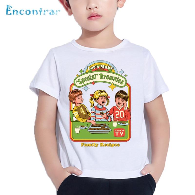 Kids Devils Music Print Funny T shirt Baby American Horror Story Design T-shirt Boys and Girls Summer White Tops,HKP5591