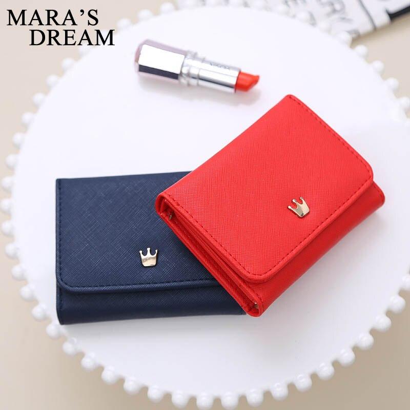 Maras Dream portefeuille femmes dame court femmes portefeuilles couronne décoré Mini argent sacs à main petit pli PU femme porte-monnaie porte-carte