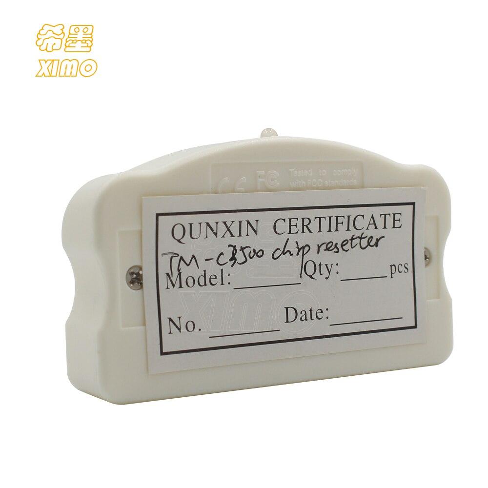 XIMO Chip reseteador para EPSON TM-C3500 TM-C3520 impresora de etiquetas de Color SJIC22P Chip reseteador