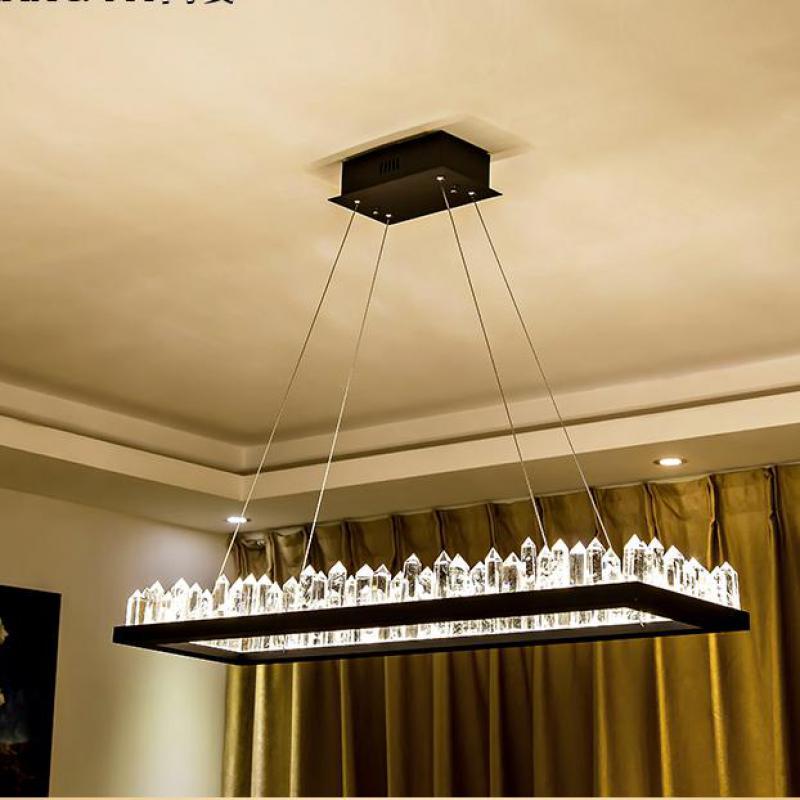 Candelabro de cristal Rectangular moderno para vestíbulo de hotel, sala de estar,...
