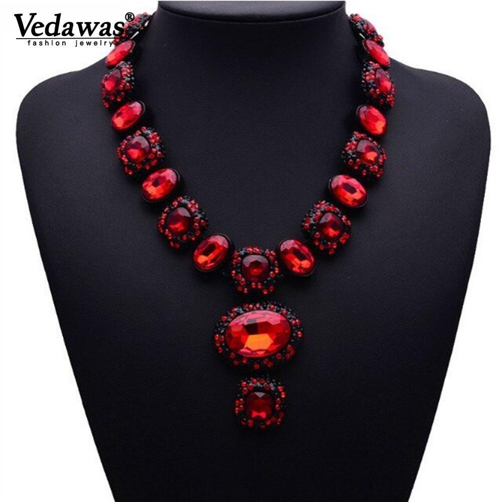Collares y colgantes de cristal Vintage de alta calidad 2019, collar de cadena larga de diamantes de imitación de 6 colores para mujer, joyería xg140