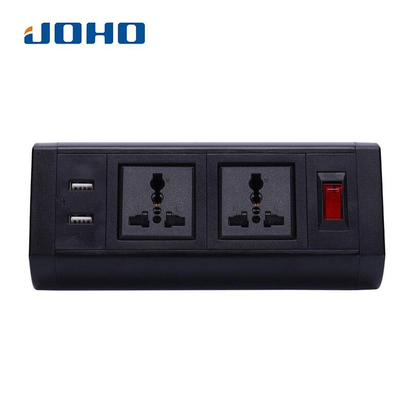 JOHO-مقبس USB مزدوج ، 250 فولت ، 10 أمبير/16 أمبير ، مقبس عالمي ، كابل بيانات ، لسطح المكتب والكمبيوتر المحمول