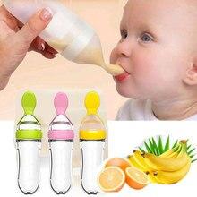 Cuchara para alimentación de bebé, alimentador de biberón, gotero, cucharas de silicona, utensilios de cubiertos para niños pequeños, accesorios para recién nacidos