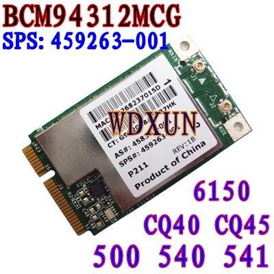 BroadCom BCM94312MCG BCM4312 459263-001 Mini PCI-E Lan inalámbrica Wifi WLAN Wi-Fi tarjeta 802,11 4321MC