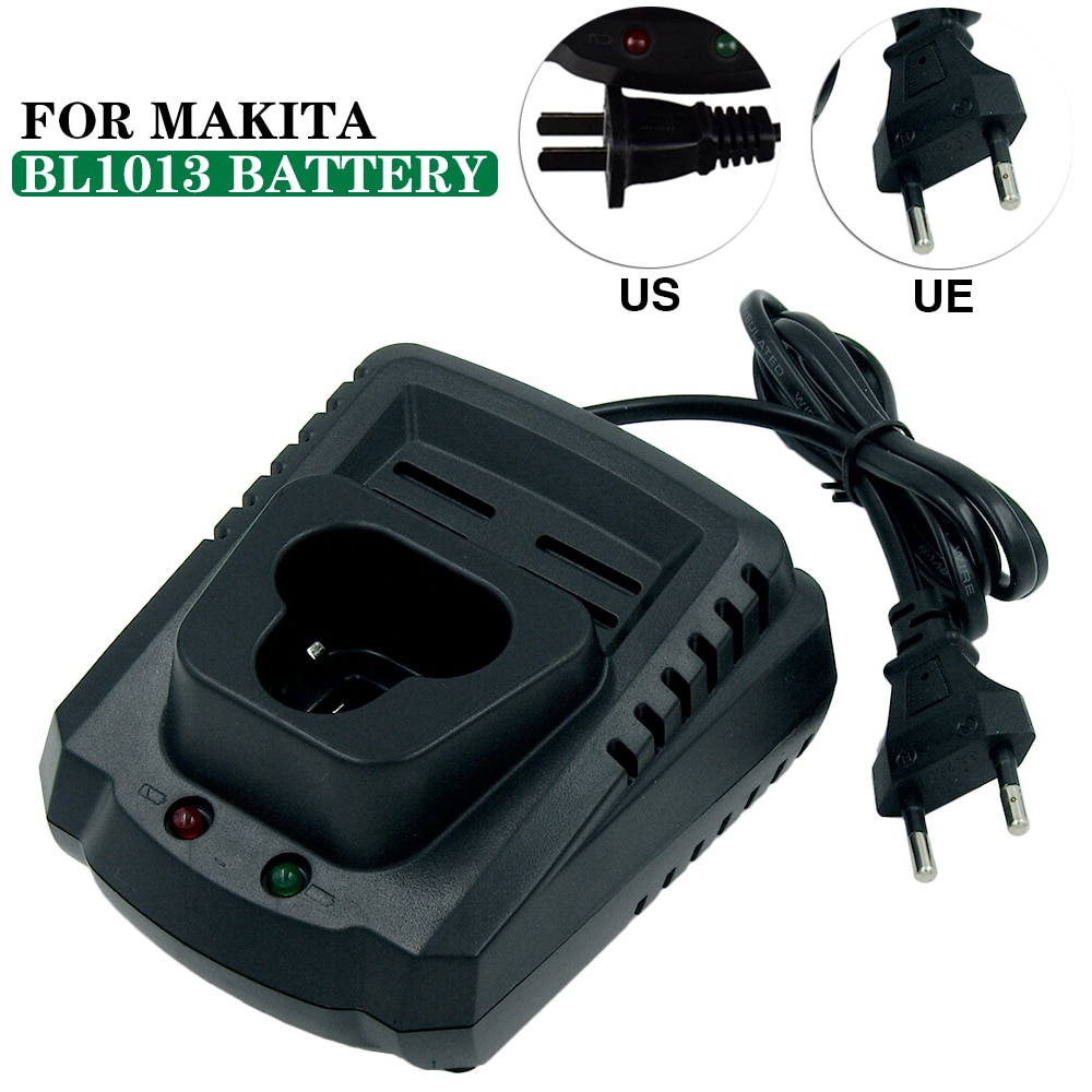 AC110-240V DC10WA Lithium-ion Battery Charger for Makita 10.8v BL1013 BL1014 Cordless Tools Bateria EU Plug & US Plug