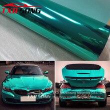Película cromada espelhada para carro, adesivo esticável cromado azul tiffany, 10/20/30 com frete grátis/40/50/60x152cm