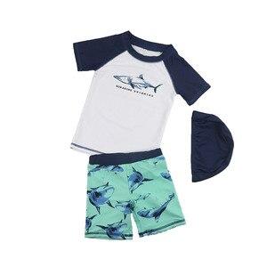Children's Swimwear Sunscreen Quick Drying Seaside Beach Swimwear Pants Spikeshark Small, Medium and Large Boys Height summer
