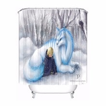 Bath Curtain For Bathroom Custom Galaxy Magical Mermaid Home Decor Shower Curtain Waterproof Fabric Hooks #180417-02-144