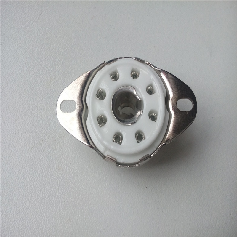 7 шт. керамическая трубка розетка GZC8-Y-8 8pin серебряная трубка держатель сиденье трубка розетка для 5B254 4P1S усилитель