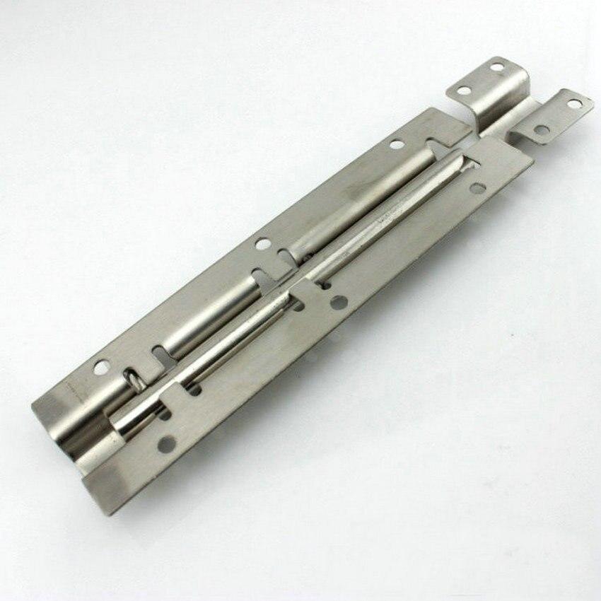 Al por mayor espesar 5 piezas/Lote 8 pulgadas = 200MM (40MM de ancho, diámetro de varilla de 9,5 MM) perno de puerta de acero inoxidable AISI304, pestillo de seguridad, clavija