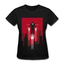 IronMan Fight Tshirt Printing Summer Fall Cotton Women T Shirt Best Birthday Gift Nice T-shirts New Coming Short Sleeve T-shirts