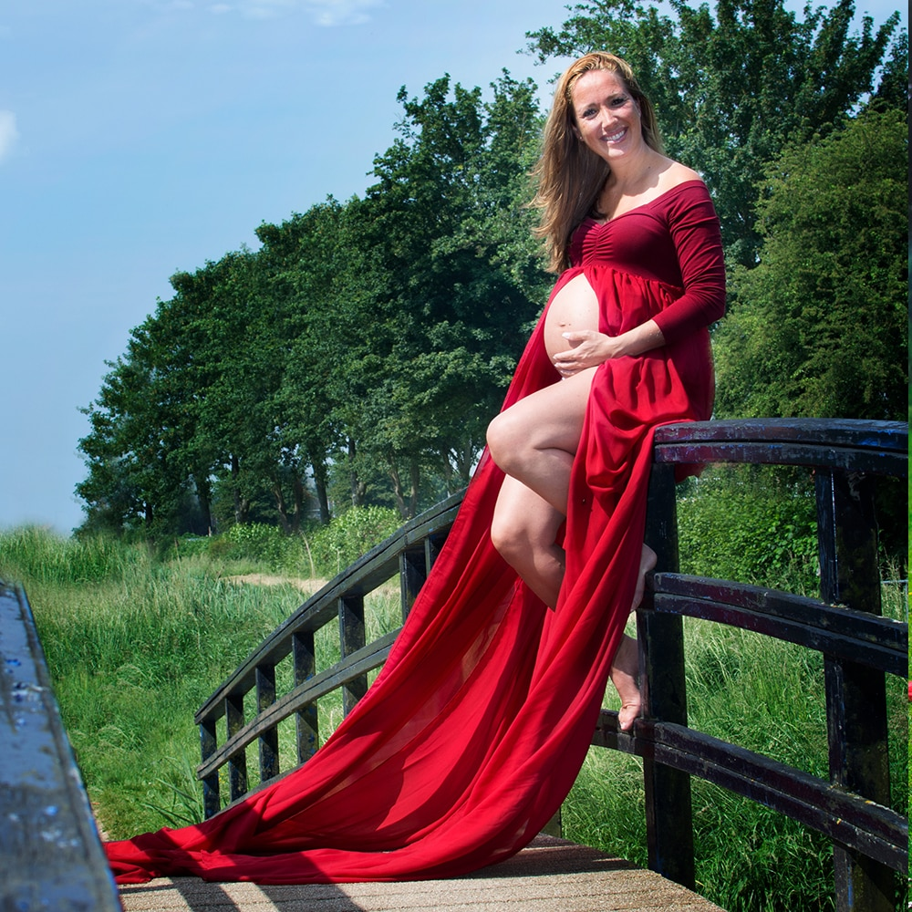 Don&Judy Pregnancy Dress Photography Maternity Photography Props 3m Long Train Maternity Dresses For Photo Shoot Maxi Dress enlarge