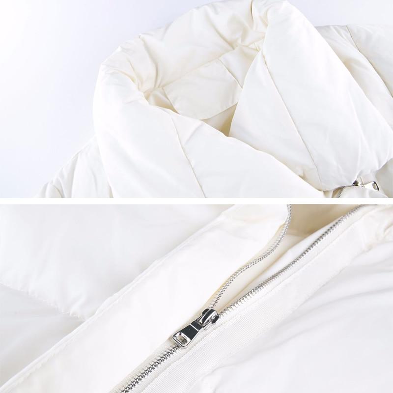 YNZZU Luxury Winter Jacket Women Casual White Mid-Long Duck Down Coat Jacket Loose Thicken Stand Collar Warm Outwears 2021 O680