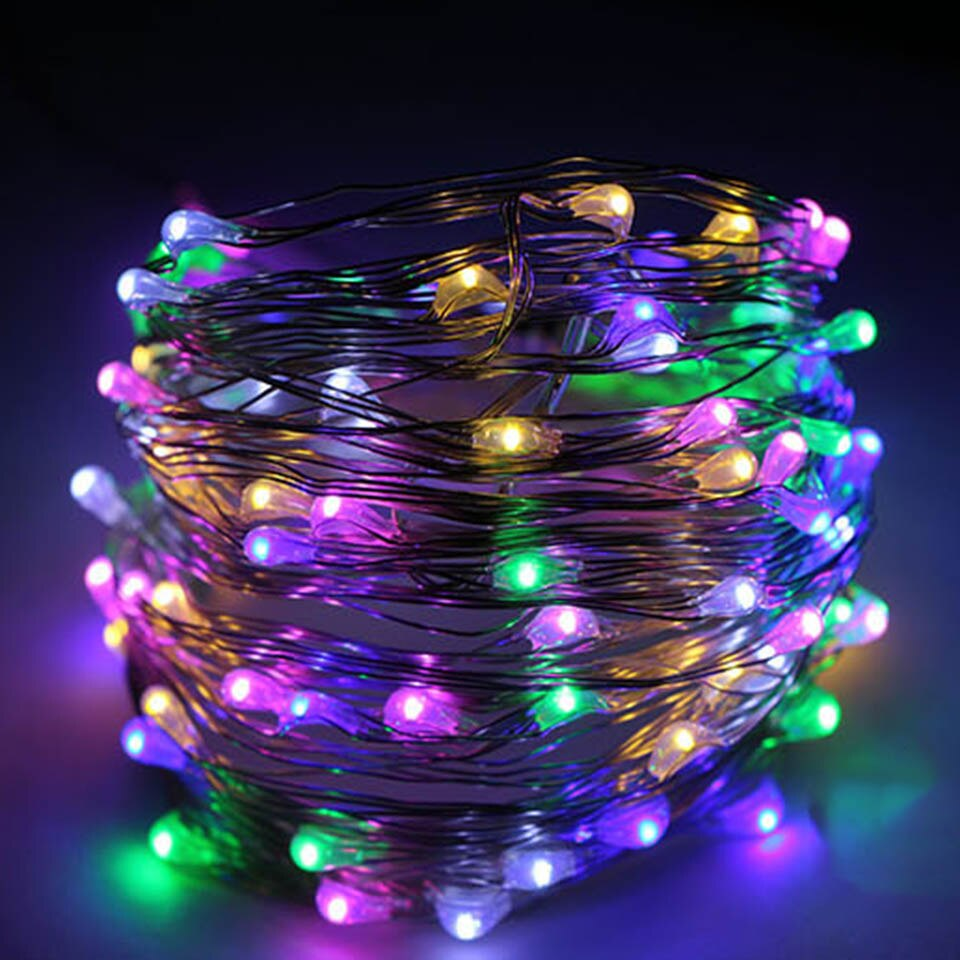 Tronzo Wedding Decoration LED String Lights 2M 20 Lights Party Favor Copper Wire Light For Wedding Table Centerpiece Supplies