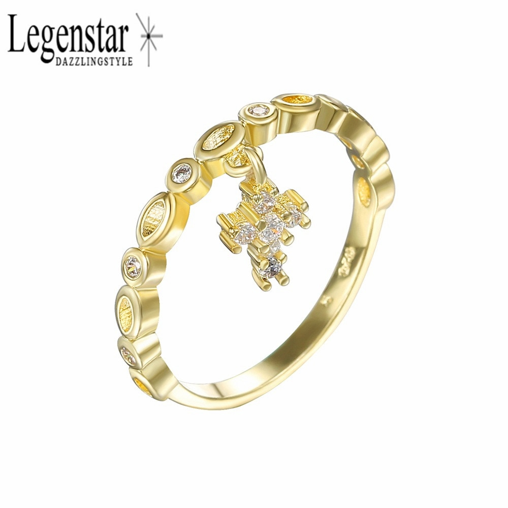 Женское кольцо с цирконом Legenstar вечерние кольца цвета розового золота знаком