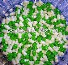 (10,000 sztuk/partia) oddzielone 4 # zielony/biały kapsułka, twarda kapsułka, kapsułka żelatynowa, pustych kapsułek, kapsułek gorąca sprzedaż i darmowa wysyłka