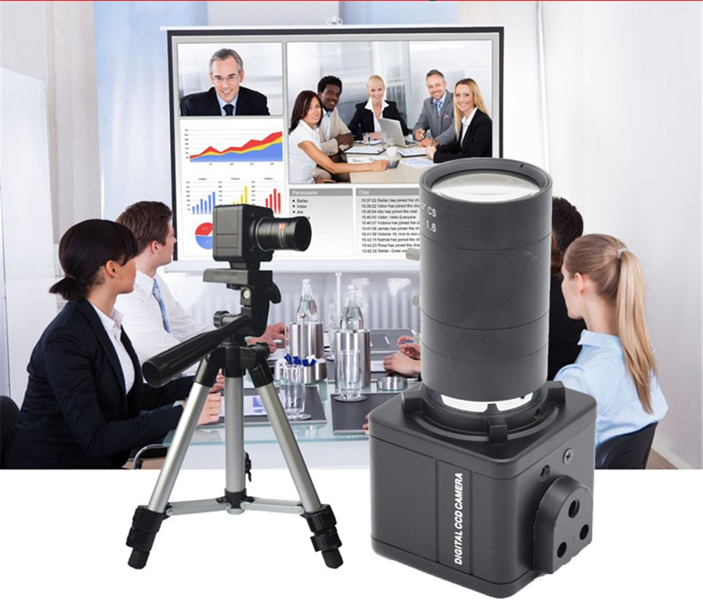 Cámara de lente Varifocal HQCAM 5.0MP 6-60mm con Digital para captura de luz trasera mini USB BOX cámara de enseñanza, videoconferencia