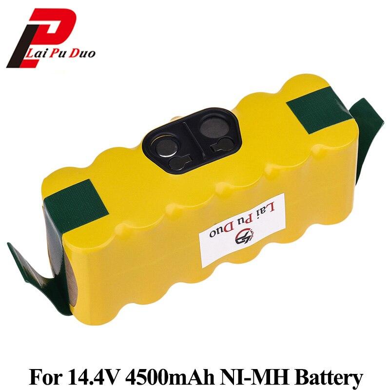 NI-MH 14.4V 4500mAh Bateria Para iRobot Roomba 500 560 530 562 550 570 581 610 770 760 780 790 880 Substituível Robótica Batteria