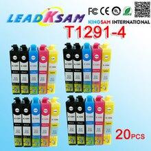20 stücke für T1291 T1292 T1293 T1294 129 compatile tinte patrone für SX420W B42WD BX305F BX305FW BX320FW