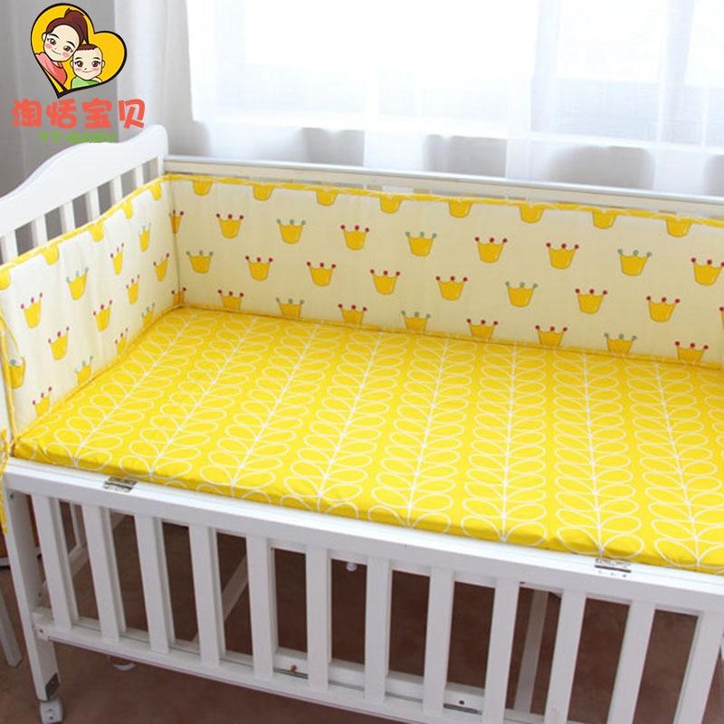 【Весна и лето 】 бампер для кровати, Детские хлопковые комплекты постельного белья для новорожденных, защита для малыша вокруг кроватки, ба...