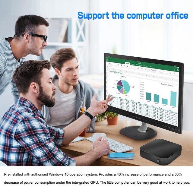 W8 Pro Mini PC T8 Mini Computer Intel Atom X5-Z8350 Quad Core 2G 32G/4G 32G/4G 64G Win10 2.4G WIFI BT USB 3.0  Pocket PC 10