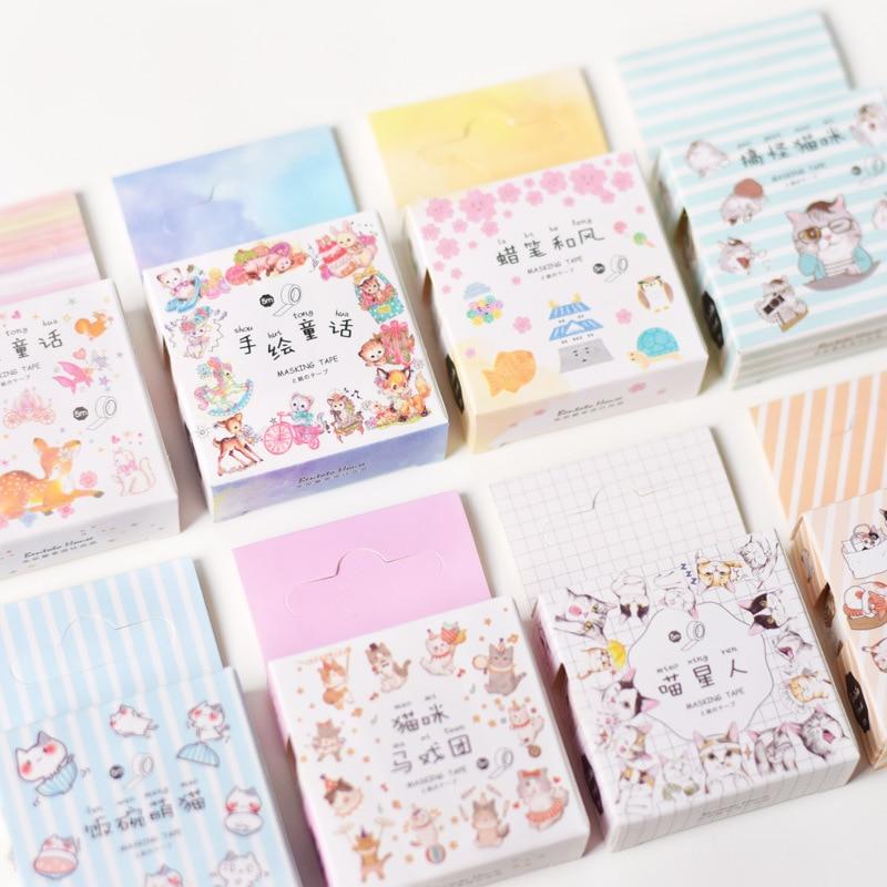 1.5CM*5M Cute Cat Kitten World Masking Tape Album Scrapbooking Decor Washi Tape Stick Label