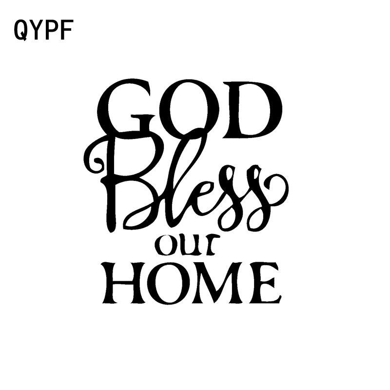 QYPF 11.9cm * 13cm moda bóg zapłać nasze naklejki samochodowe naklejki na motocykl czarny/srebrny Vinyl C15-1757