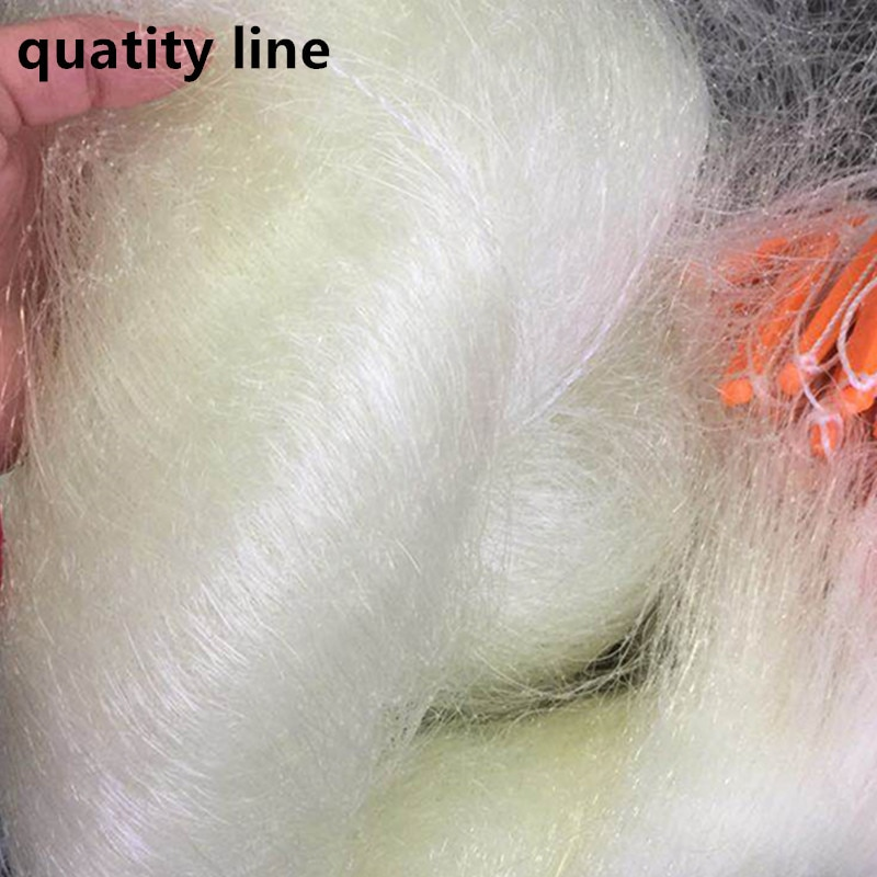 Depth2m Length80m 3 layer fishing net network fishing gear rede pesca fishing Accessories outdoor tool yellow strong nylon net enlarge