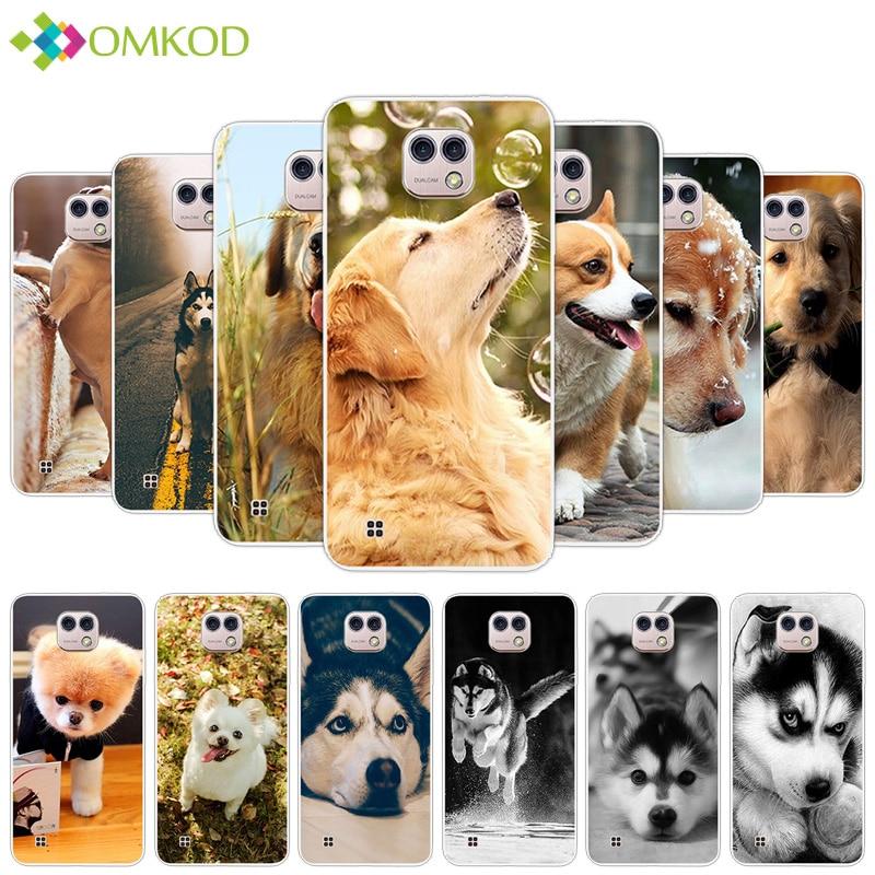 Fundas para LG X Cam K580 K580DS, Fundas de silicona suave y delgada de TPU, funda de moda de 5,2 pulgadas para LG X Cam K580, funda trasera con perro bonito para teléfono