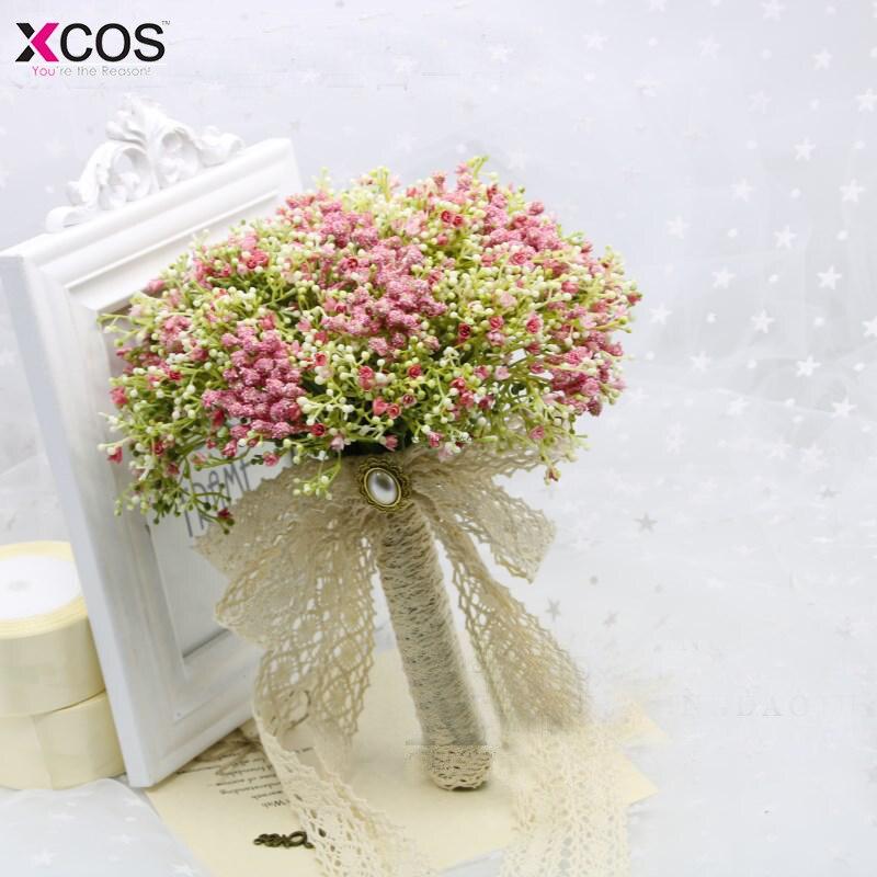 Ramo de novia de gypofila de colores de la boda romántica con flores