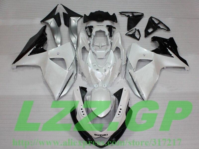 100% ajuste 100% ajuste kits de carenado de inyección para SUZUKI GSXR 1000 K9 09 10 11 12 GSX-R1000 K9 2009, 2010, 2011, 2012 carenados blanco negro