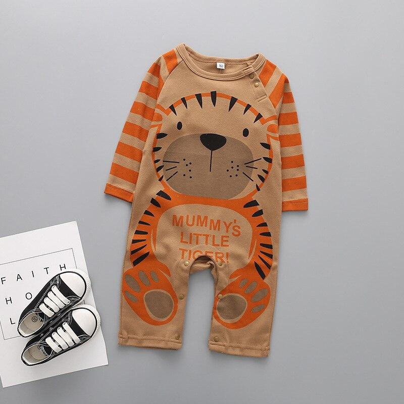 Roupa do bebê 2018 novos macacões recém-nascidos bebê menino menina macacão roupas de manga longa infantil produto panda impressão 1 3 9 12 meses