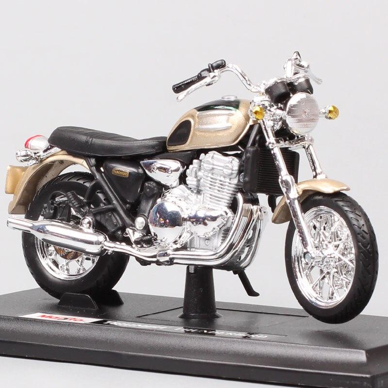 1:18 escala Maisto niño TRIUMPH THUNDERBIRD 900 clásico motocicleta, bicicleta y coche réplica vehículo juguetes en miniatura moldeados a presión para la colección